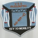 US NAVY - USS PASSUMPSIC AO-107 FLEET OILER MILITARY PATCH KEY TO MOBILITY