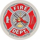 FIRE DEPT REFLECTIVE MILITARY CAR VEHICLE WINDOW DECAL PATRIOTIC STICKER