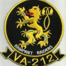NAVY VA-212 Aviation Attack Squadron Two One Two Military Patch RAMPANT RAIDERS