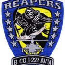 ARMY B Co 1st Battalion 227th aviation Reg 1st Cavalry Div MILITARY PATCH REAPER