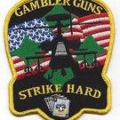ARMY 4th AVN BN 4th INFANTRY DIVISION MILITARY PATCH GAMBLER GUNS STRIKE HARD