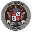 USS MORTON DD-948 DESTROYER SHIP MILITARY PATCH VIGILANTE AETERNA PRETIUM LIBERT