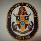 DDG-95 USS James E. Williams Guided Missile Destroyer Military Patch