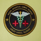 US NAVAL HOSPITAL CORPS SCHOOL - GREAT LAKES, ILLINOIS MILITARY PATCH