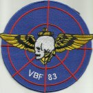 NAVY VBF-83 Aviation Fleet Fighter Bombing Squadron 83 Military Patch USS ESSEX