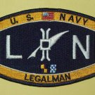 United States NAVY LEGALMAN - LN - MILITARY RATING PATCH