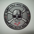 US NAVY - SLIMEY POLLY WOGS BEWARE - TRUSTY SHELLBACK MILITARY PATCH