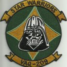 NAVY RESERVE ELECTRONIC ATTACK SQUADRON VAQ-209 MILITARY PATCH STAR WARRIORS