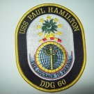 USS PAUL HAMILTON DDG-60 Guided Missile Destroyer Military Patch COURAGE PREVAIL