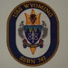USS WYOMING SSBN - 742 BALLISTIC MISSILE SUBMARINE MILITARY PATCH