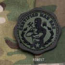 CERTIFIED MAN BAG - FOREST - TACTICAL BADGE MORALE PVC VELCRO MILITARY PATCH