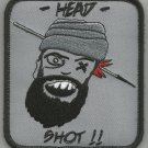 HEAD SHOT TALIBAN HUNTING SNIPER ONE SHOT ONE KILL VELCRO MORALE MILITARY PATCH
