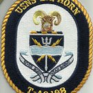 USNS BIG HORN T-AO 198 FLEET REPLENISHMENT OILER SHIP CREST MILITARY PATCH