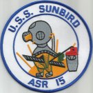 USS SUNBIRD ASR-15 SUBMARINE RESCUE SHIP MILITARY PATCH