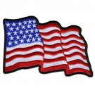 United States WAVY FLAG BIKER JACKET VEST MOTORCYCLE MILITARY PATCH