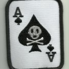 ACE OF SPADES DEATH CARD VETERAN BIKER MOTORCYCLE JACKET MORALE MILITARY PATCH
