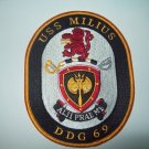 DDG-69 USS Milius Military Patch Guided Missile Destroy