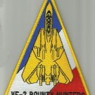 US NAVY VF-2 FIGHTER SQUADRON MILITARY PATCH BOUNTY HUNTERS TRIANGLE