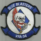 VFA-34 US Navy Strike Fighter Squadron Thirty Four Military Patch BLUE BLASTERS