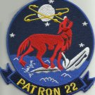 NAVY AVIATION PATROL SQUAD TWENTYTWO VP-22 MILITARY PATCH HOWLING WOLF PATRON 22