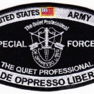 ARMY Special Forces MOS Military Patch DE OPPRESSO LIBER THE QUIET PROFESSIONAL