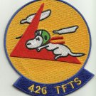 USAF US Air Force 426th Tactical Fighter Training Squadron Military Patch SNOOPY