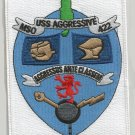 USS AGGRESSIVE MSO-422 MINESWEEPER MILITARY PATCH AGGRESSUS ANTE CLASSEM