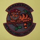 """Pararescue """"We're all mad...you know"""" Insignia Beret On Cat - Military Patch"""