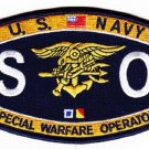 NAVY Weapons Specialty Rating Special Warfare Operator Military Patch SO SEAL