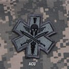 SPARTAN -ACU- TACTICAL COMBAT MEDIC BADGE SPEC OPS MORALE VELCRO MILITARY PATCH