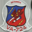 US NAVY VA-724 Reserve Attack Squadron NAS Glenview, IL Military Patch SKYHAWKS