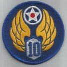 10th AIR FORCE - ARMY MILITARY PATCH - Tenth Air Force USAF