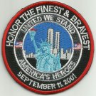 HONOR THE FINEST & BRAVEST UNITED WE STAND AMERICAS HEROES BIKER MILITARY PATCH
