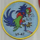 US NAVY VF-47 AVIATION FIGHTER SQUAD FORTY SEVEN MILITARY PATCH FIGHTING COCKS