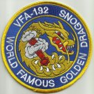 NAVY VFA-192 Strike Fighter Squadron Military Patch World Famous Golden Dragons