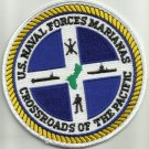US NAVAL FORCES MARIANAS MILITARY PATCH - CROSSROADS OF THE PACIFIC