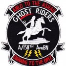 ARMY A Co 158th AVN BN MILITARY PATCH ANLO TO THE ASHAU DANANG TO THE DMZ GHOST