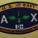 U.S. NAVY AVIATION ANTISUBMARINE TECH - AX - MILITARY RATING PATCH