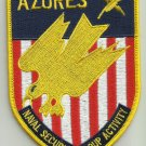 United States NAVAL Security Group Activity AZORES Militlary Patch