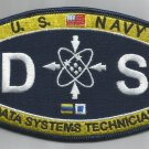 US NAVY DATA SYSTEMS TECHNICIAN RATINGS MOS MILITARY PATCH - DS
