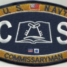 United States NAVY COMMISSARYMAN Rating Rank MOS Military Patch - CS