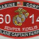 "USMC ""PLANE CAPTAIN F4/RF4"" 6014 MOS MILITARY PATCH SEMPER FIDELIS MARINE CORPS"