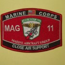 USMC - MAG 11 Marine Aircraft Group Close Air Support MOS Military Patch