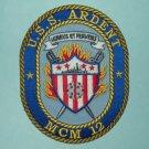 USS ARDENT MCM 12 AVENGER CLASS MINE COUNTERMEASURES SHIP MILITARY PATCH