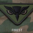 OWL HEAD FOREST ISAF COMBAT TACTICAL BADGE MORALE 3D PVC VELCRO MILITARY PATCH