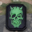 DEVIL SKULL - GLOW - TACTICAL COMBAT BADGE MORALE PVC VELCRO MILITARY PATCH