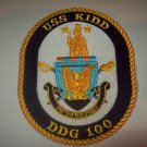 DDG-100 USS KIDD Guided Missile Destroyer Military Patch ON TO VICTORY