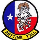 NAVY VF-201 AVIATION FIGHTER SQUADRON TWO ZERO ONE MILITARY PATCH ANYTIME Y'ALL