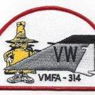 "USMC VMFA-314 MARINE FIGHTER ""BLACK KNIGHTS"" PHANTOM TAIL MILITARY PATCH - SPOOK"