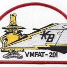 USMC VMFAT-201 FIGHTER ATTACK TRAINING HAWKS PHANTOM TAIL MILITARY PATCH
